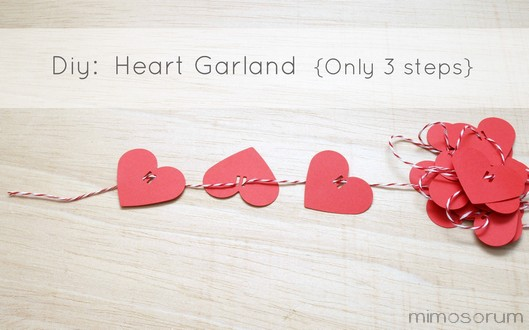 Guirnalda corazón en 3 pasos.