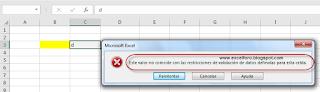 Validación de datos en Excel..