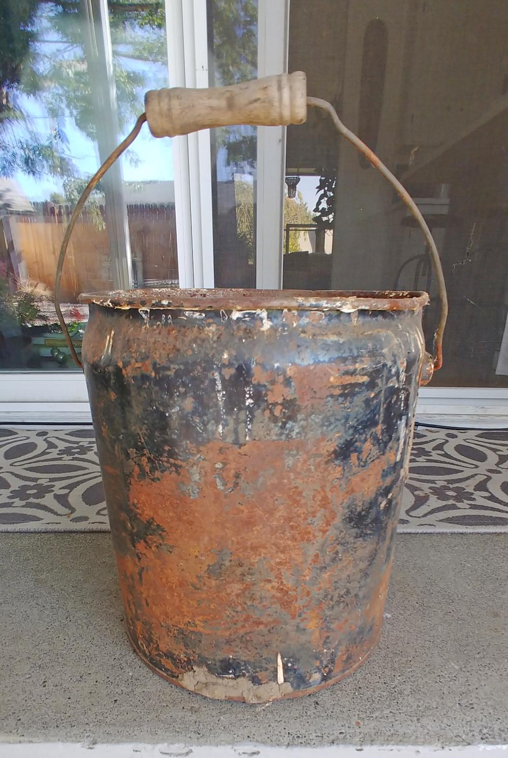 rusty bucket