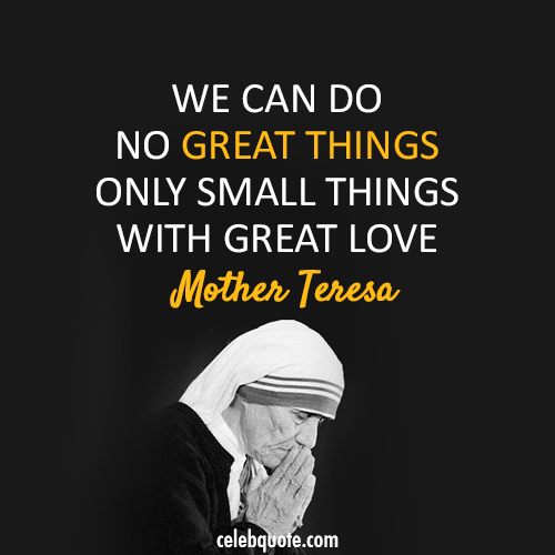 Mother Teresa Quotes: Beads Of Love: Farmart Rescue