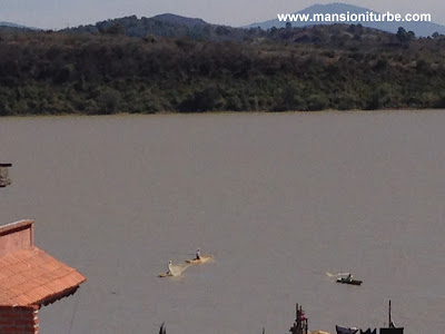 Panoramic view of Lake Patzcuaro from Janitzio Island