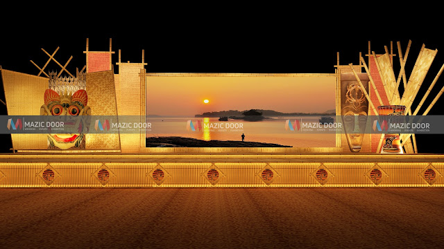 assamese themed Stage design 1