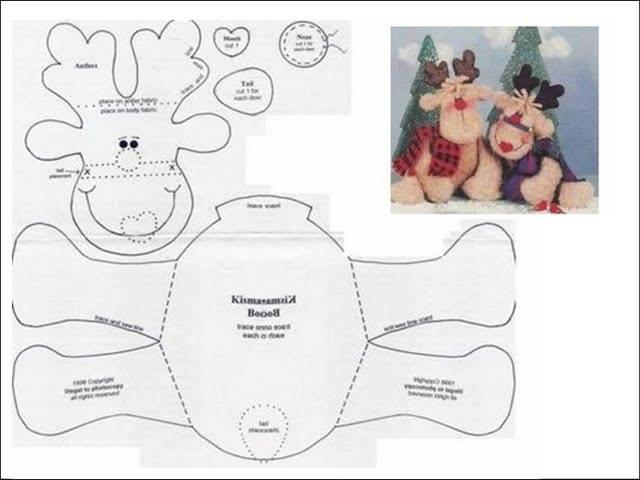 DIY - Decoração de Natal Com Feltro Super Fácil de Fazer Com Moldes 11
