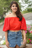 Rhea Chakraborty in Red Crop Top and Denim Shorts Spicy Pics ~  Exclusive 111.JPG
