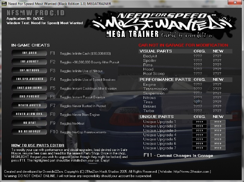 Cara cheat nfs most wanted black edition ps2