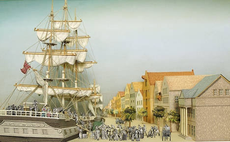 Emigrants leaving Bremerhaven, Germany 1850