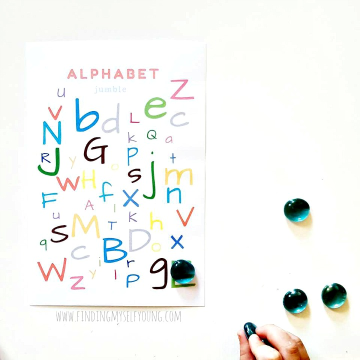 Flying Sprout alphabet letter jumble digital download