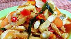 Resep praktis (mudah) tumisjagung muda (putren) spesial (istimewa) enak, sedap, gurih, nikmat lezat
