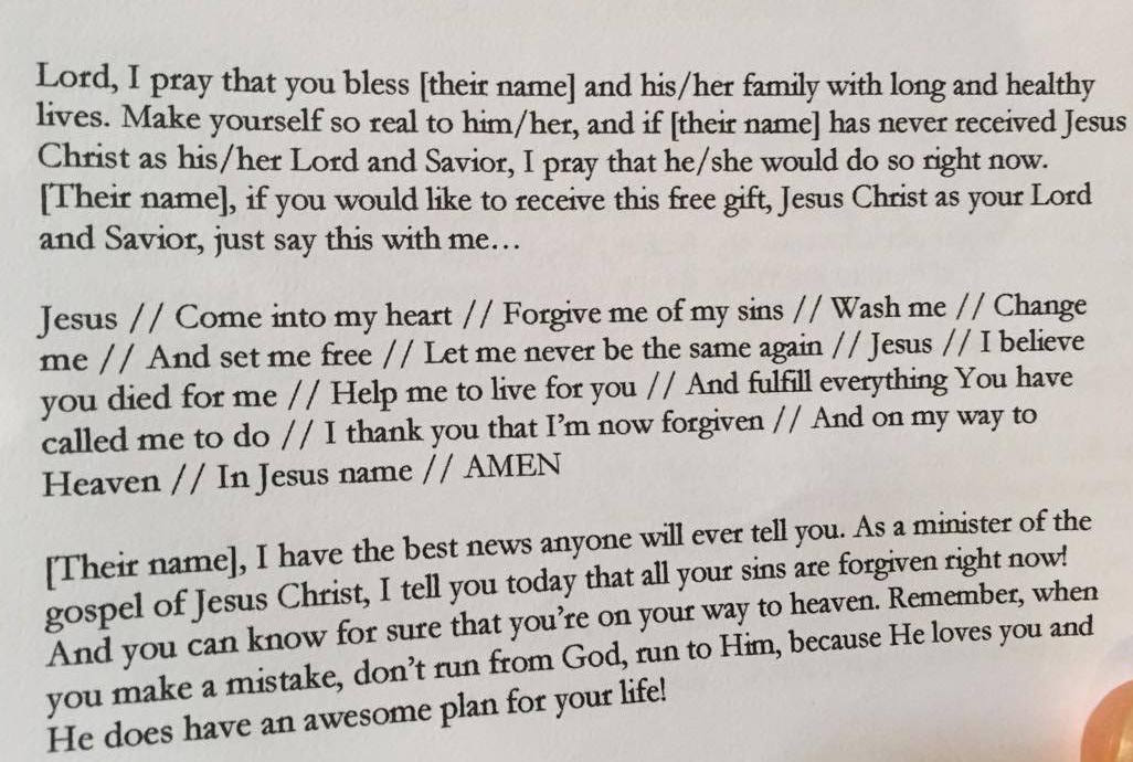 If You Would Like To Receive This Free Gift Jesus Christ As Your Lord And Savior JUST SAY THIS With Me My Capitalization For Emphasis FRIENDS