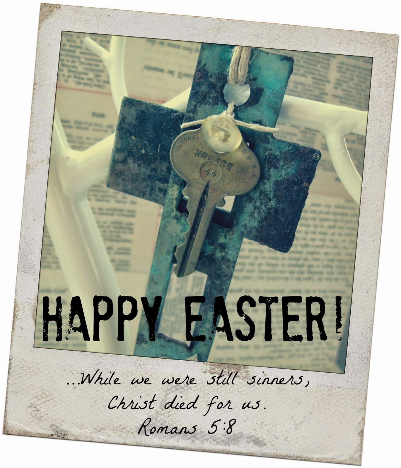 Chipping with Charm: Happy Easter...Strike Plate Cross...http://www.chippingwithcharm.blogspot.com/