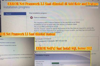 Cara Mengatasi Error NetFx3 Saat Install SQL Server 2012