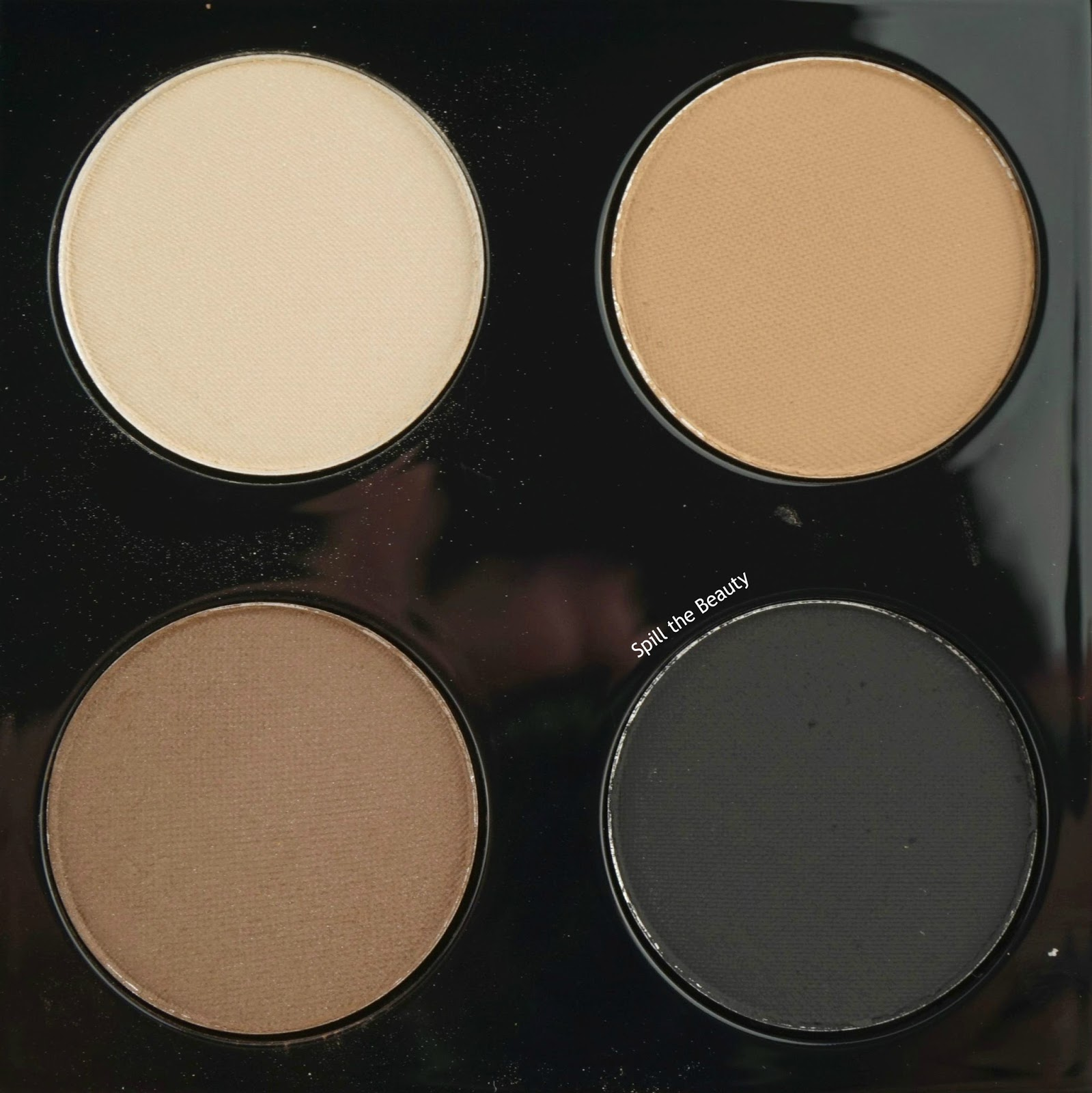 mac brant brothers eyeshadow quad 4 pillars review swatches arm swatch
