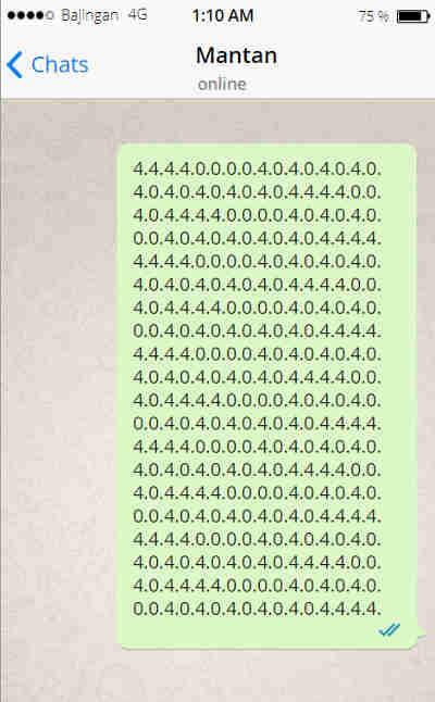 Cara Membuat Whatsapp Crash Error Terbaru