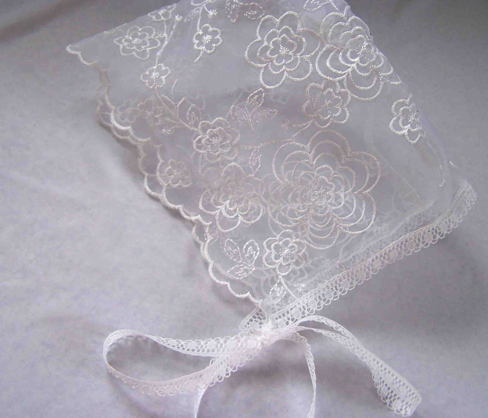 Made by Me. Shared with you.  Lace Baby Bonnet fed1a511757