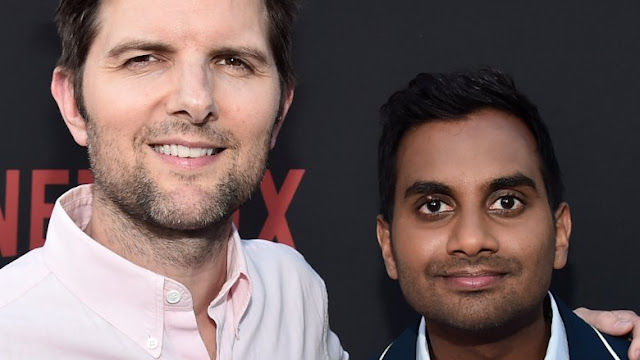 Adam Scott says Parks and Rec costar Aziz Ansari is 'doing great' following sexual assault claims