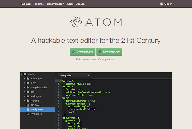Kumpulan Keyboard Shortcut Atom.io Text Editor