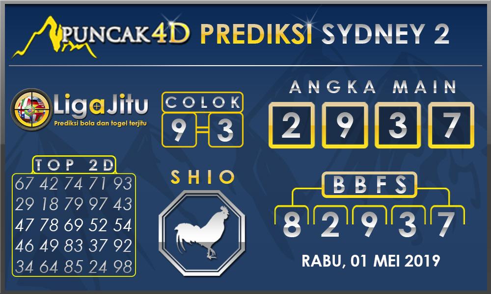 PREDIKSI TOGEL SYDNEY2 PUNCAK4D 01 MEI 2019