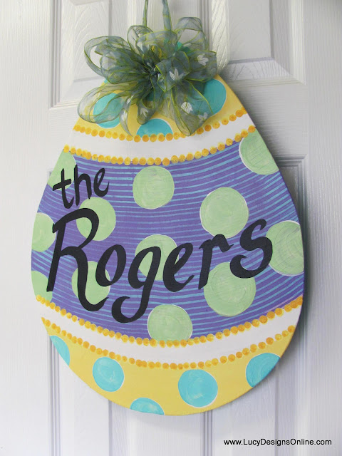 Easter egg door decoration