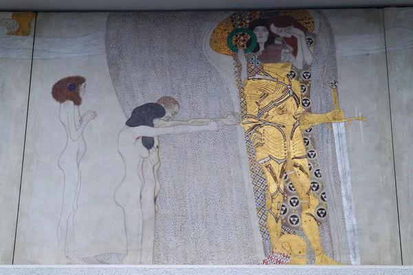 Vienne Wien art nouveau sécession palais Gustav Klimt frise beethoven