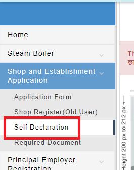 Self-declaration