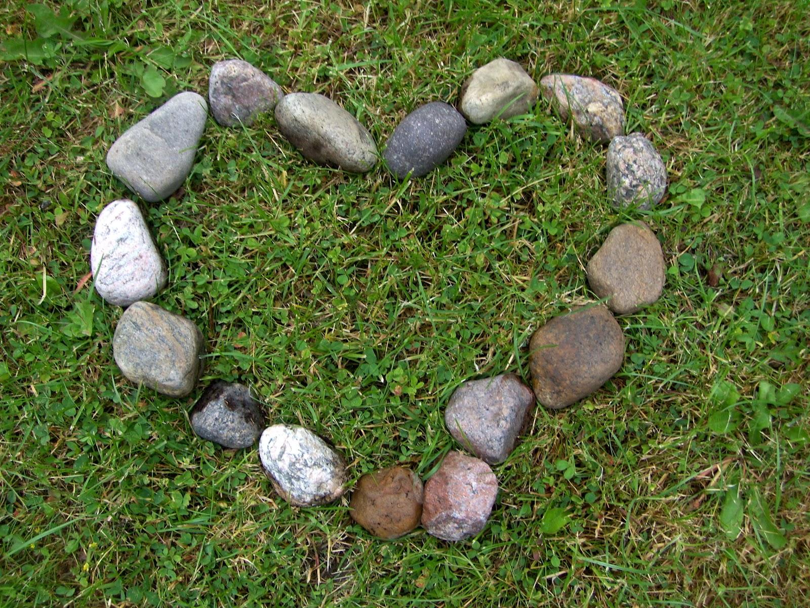 hjerte på sten