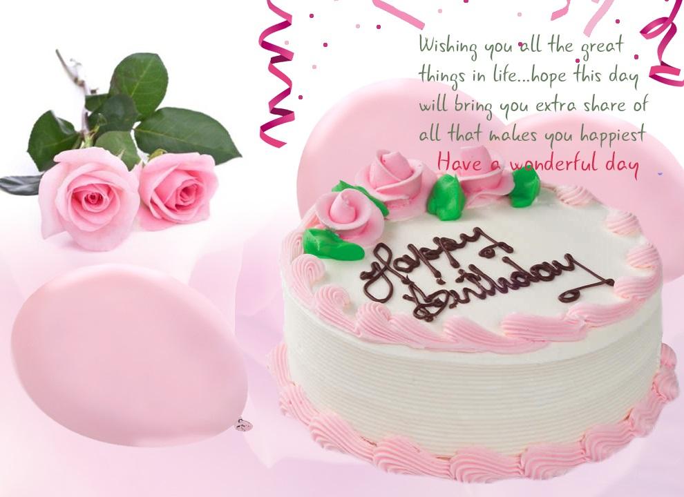 Happy bday special friend cake