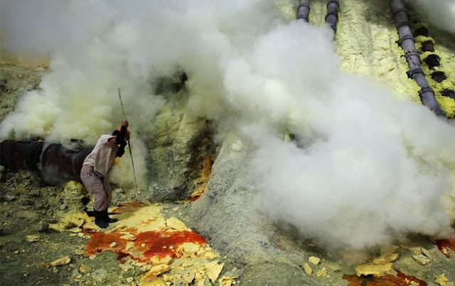 Penambangan belerang di Indonesia, Gunung Api Kawah Ijen