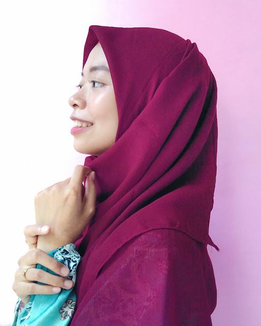 cara pakai hijab segiempat praktis