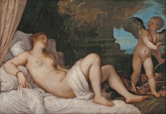 美術館 情報サイト アートアジェンダ ティツィアーノ・ヴェチェッリオ 《ダナエ》 1544-46年頃、ナポリ、カポディモンテ美術館
