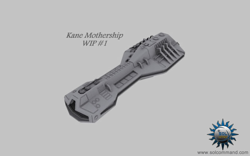 Kane mothership 3d model solcommand original concept art design command control battlefield logistics hangar