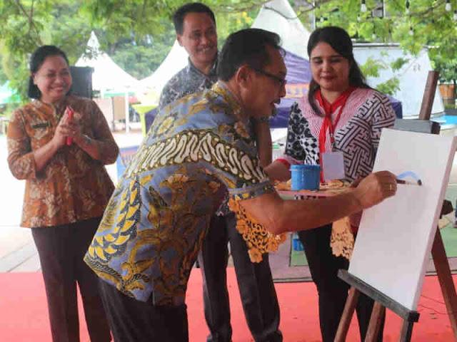 Barnabas Orno Buka Maluku Mural Festifal (MMF) 2019 di Pattimura Park