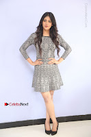 Actress Chandini Chowdary Pos in Short Dress at Howrah Bridge Movie Press Meet  0034.JPG
