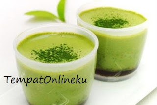 puding coklat green tea