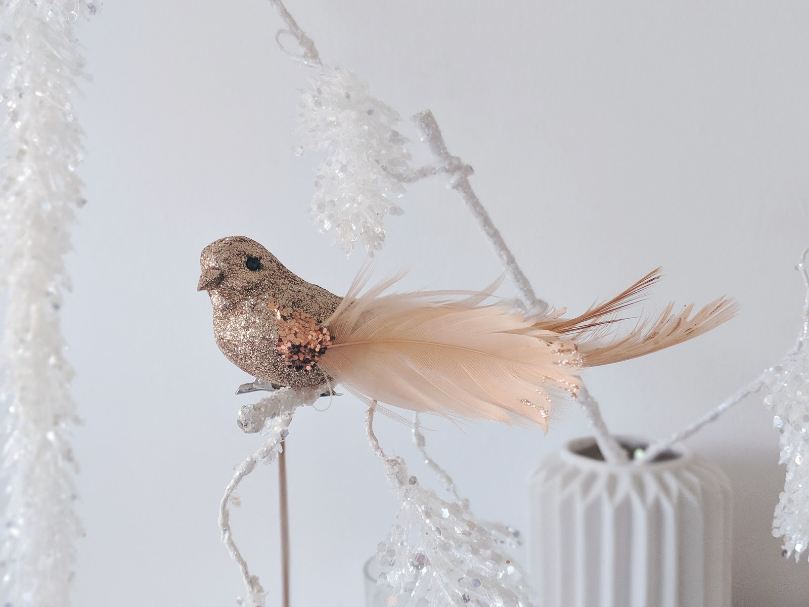 copper bird christmas decorations