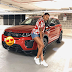 Billionaire businessman, Femi Otedola, gives his daughter, Temi, a Range Rover as graduation present