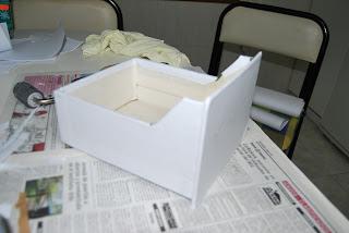 Reciclado de ficheros de carton.