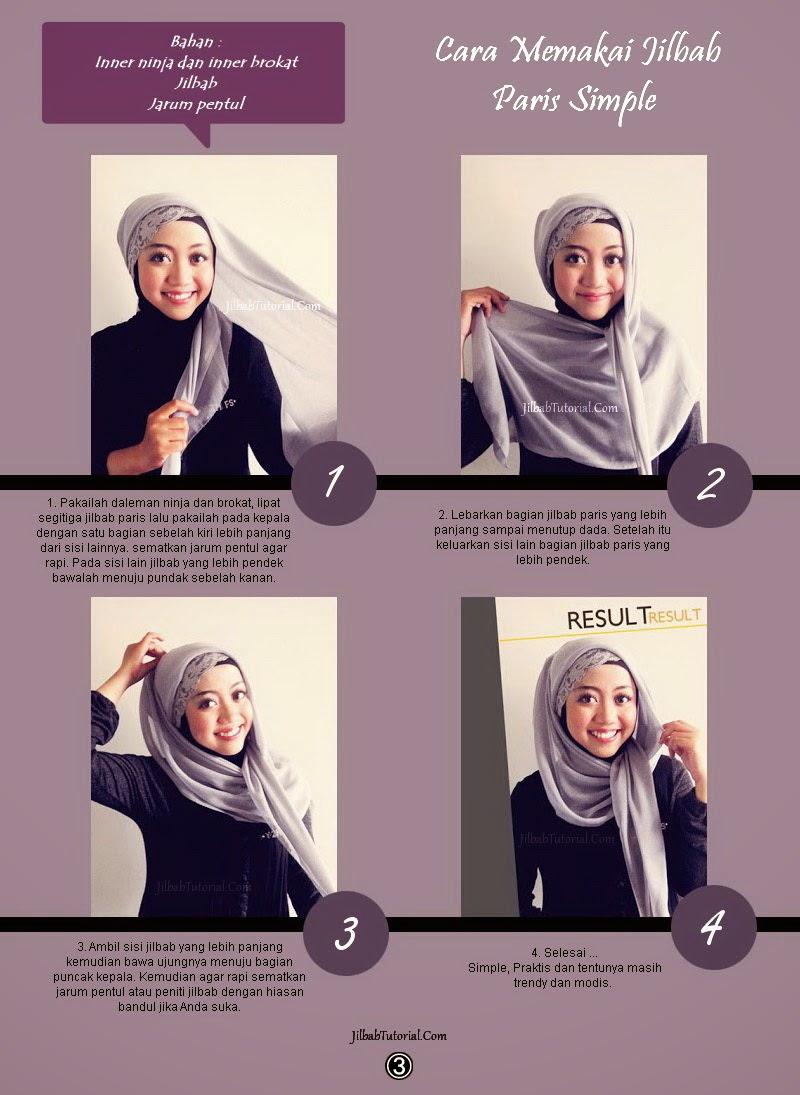 Hijab Paris Simple Tutorial Indonesian Hijab Tutorial