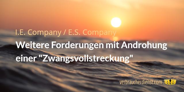 "Titel: E.S. Company / I.E. Company: Weitere Forderungen mit Androhung einer ""Zwangsvollstreckung"""
