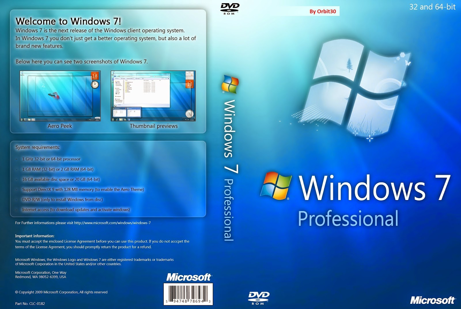 FULL WINDOWS 7 ALL IN ONE PRE-ACTIVATED(EXCELLENT)