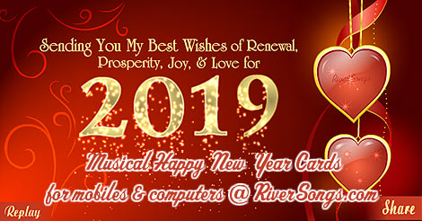 HAPPY NEW YEAR 2019 GREETINGS CARDS
