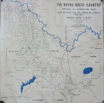 Map Of Louisiana Bayou.Bayou Boeuf History Maps Of The Beouf Region