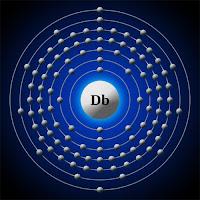 Dubniyum atomu elektron modeli