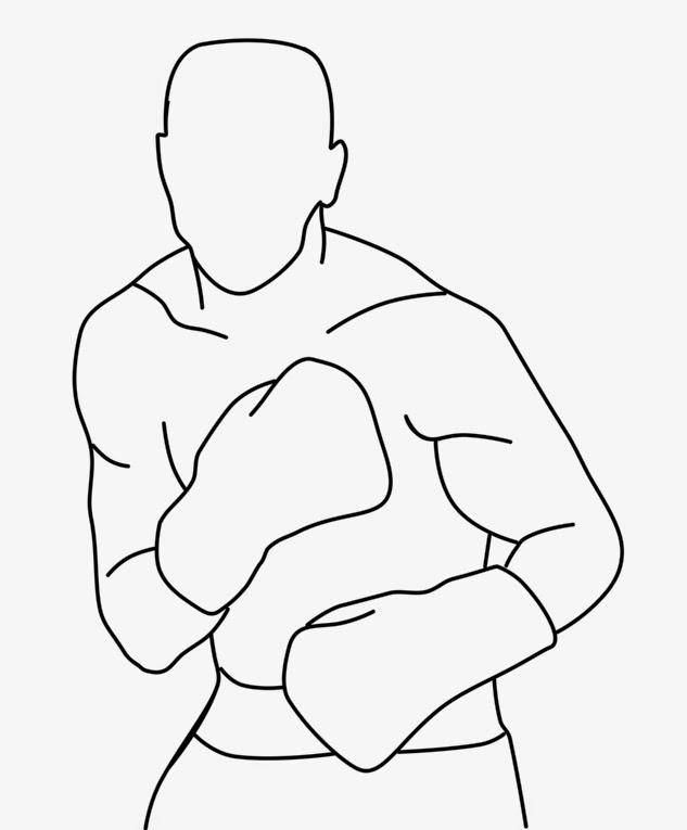 боксер рисунки карандашом