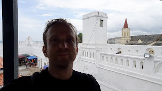 Sven in Ghana. Me on the Cape Coast castle