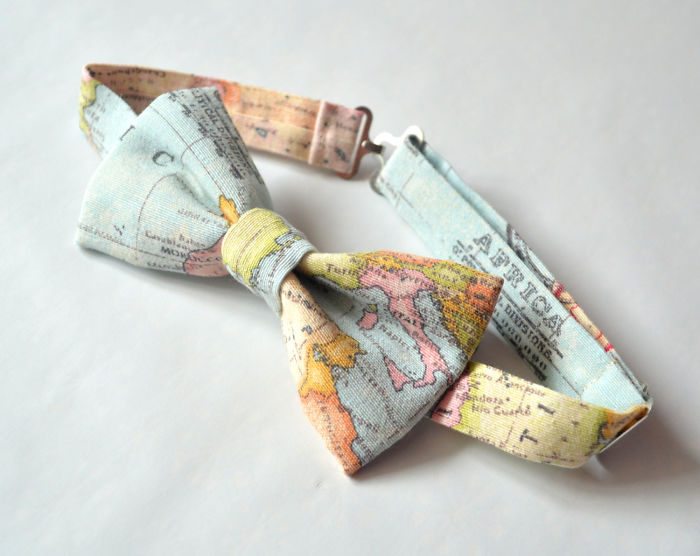 15+ Of The Best Traveler Gift Ideas Besides Actual Plane Tickets - World Map Bow Tie