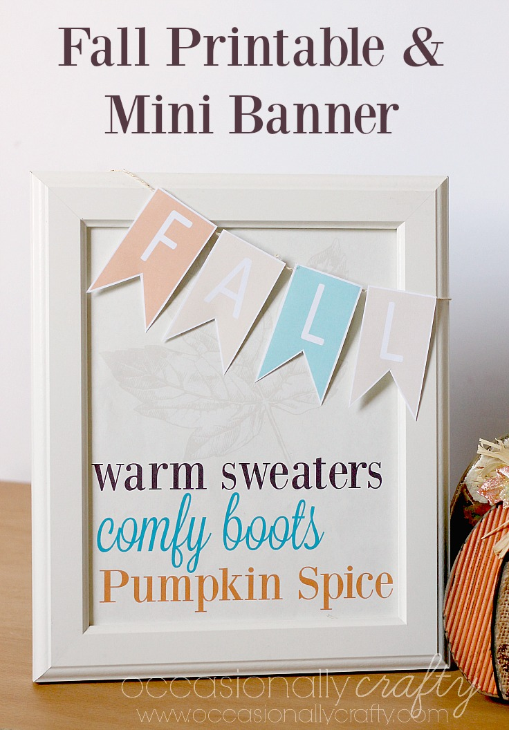 Dress up any frame with this free printable Fall Mini Banner!