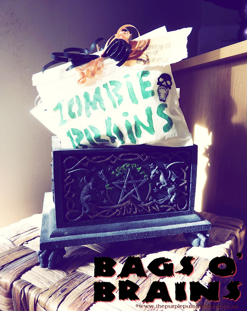 Bags o Brains for #Halloween Trick or Treat | The Purple Pumpkin Blog