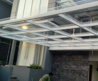 gambar kanopi baja ringan minimalis terbaru