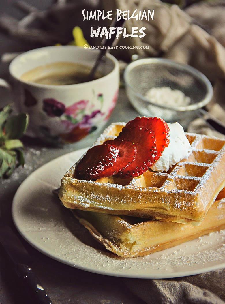 Simple Belgian Waffles #recipe #foodie #homemade