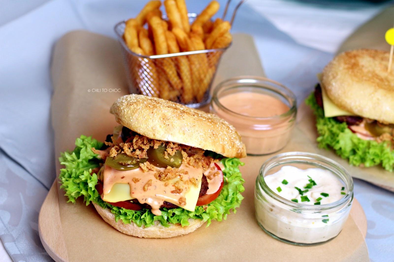 Zesty Jalapeno Beef Burger